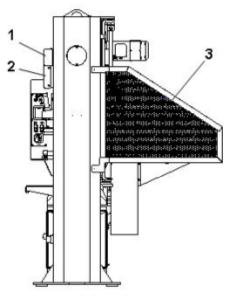 Figure 3 - Manual bridge type press Side view