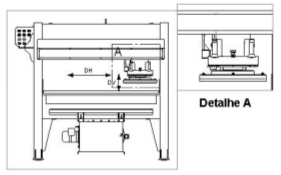 Figure 4 - Manual bridge type press - Front view